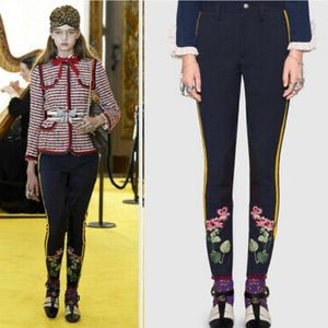 Gucci Flower Appliqué Patch Riding Pants